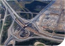 Suncor Main Gate interchange hwy 7